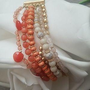 Vintage Multi Strand Beaded Bracelet